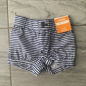 Gymboree Girls Navy/White Bubble Shorts 6-12 month